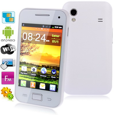 Q5830 White, Android 4.0.4 Version, Wifi Bluetooth FM function 3.5 inch Capacitive Touch Screen Mobile Phone, Dual Sim cards(China (Mainland))