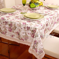 Fashion round table dining table cloth rectangle table cloth fabric tablecloth baroque table cloth