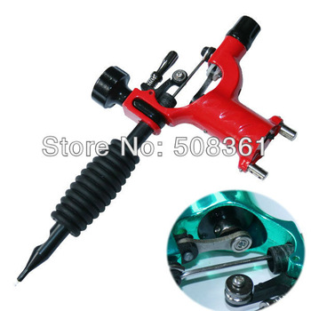 Hot!Fashion red Dragonfly Rotary Tattoo Machine Gun Shader Liner Tattoos Kit Supply Best Quality