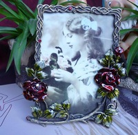 FREE SHIPPING Fashion rose photo frame classical photo frame birthday gift crafts