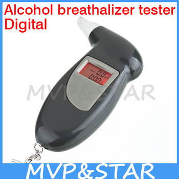 Digital Alcohol Breathalizer Tester Free Shipping 5pcs/lot