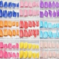 2013 new colored nail tips French False Nail Art Tips 100pcs/lot Free shipping wholesale nail tips