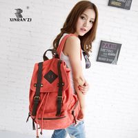 free shipping female student school bags for teenage girls thickening canvas backpack large capacity travel bag