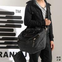 free shipping 2013 men's messenger bag canvas shoulder bag male travel large bag
