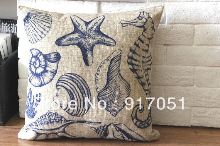 ... zee ster patroon met de hand gemaakt kussenhoes shell sierkussen geval