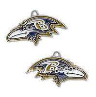 Free shipping 10pcs a lot NFL anti-silver single-sided Baltimore Ravens charms