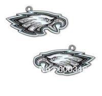 Free shipping 10pcs a lot NFL anti-silver single-sided Philadelphia Eagles charms