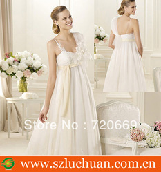 2013High quality beautiful wedding dresses for pregnant women(China (Mainland))