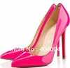 Factory price Pigalle 120mm Pumps various style red bottom high heels US 4-11,Hot  pink 12cm pigalle sexy party shoes wholesale