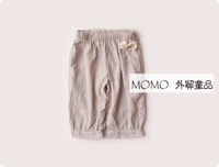 baby clothing, Momo girls clothing fluid linen pants crumple bow bloomers shorts