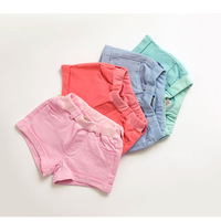 baby clothing, Candy color ! female child tannase cotton cloth denim shorts all-match chromophous