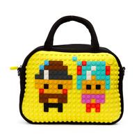 Pixels bag puzzle pixels cross-body handbag diy pattern bags shoulder bag school bag