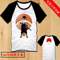 Popular Naruto Japanese  cartoon Uchiha Sasuke cosplay T shirts casual shirts 3 kinds