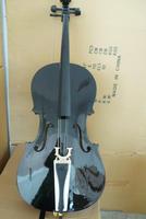 Black handmade cello musical instrument