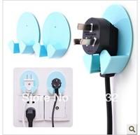 20pcs/lot Free Shipping plug hook,power plugs sockets hooks rack sorting device multi-function plug-hooks-holder