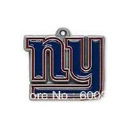 Free shipping 10pcs a lot NFL antique silver single-sided New York Giants charms