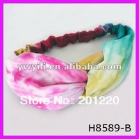 FREE SHIPPING! Girl's spring tie-dye cotton headband