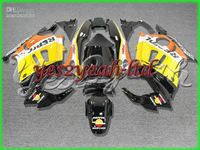 H160 Yellow Black ABS Fairing for HONDA CBR600F3 97 98 CBR600 F3 1997 1998 CBR600-F3 97-98 CBR 600F3