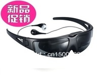 Hot 60-inch virtual screen video glasses theater for iPhone/ PC TV DVD PS3 HD player AV IN input