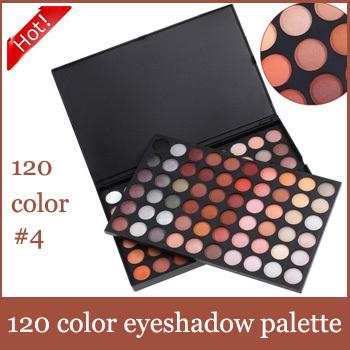 Free shipping! High Quality 120 Color #4  Eyeshadow makeup Palette Powder Eyeshadow set Drop shipping