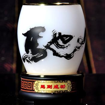 Decoration chinese style classical initiators pen decoration belt wood base business gift