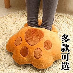 Thermal bear paw plug usb warm feet treasure warm feet shoes pillow kaozhen