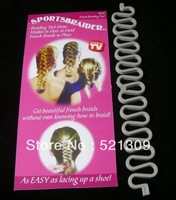 sportsbraider hair waver french braids hair fold up set up-do as seen on TV 1pcs/lot free dropshipping!