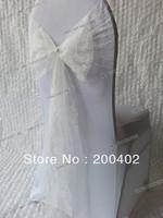 free shipping white lace chair   sash/chair sash/chair bow