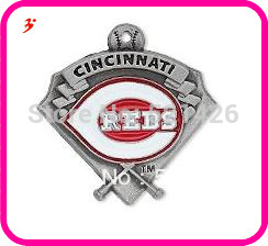 Free shipping (Can be Mixed) sport enamel Cincinnati Reds baseball team logo charms jewelry accessory 50 pcs a lot