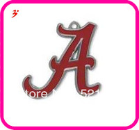 Free shipping (Can be Mixed) sport enamel Alabama Crimson Tide basketball team logo charms 50 pcs a lot