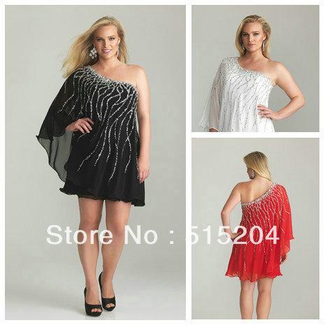 Short Black Dress on Short Prom Dress Modest Plus Size Black White Red Formal Gown 2013