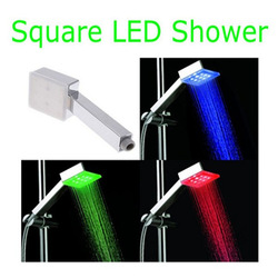 Square 7 Color Changing 9 LED Shower Head Bathroom(China (Mainland))