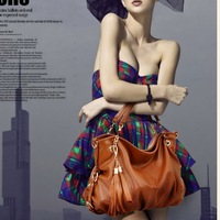 Hot Elegant Popular New Fashion HOBO Women Handbag Cow Leather Shoulder  Bag Purse Free Shipping
