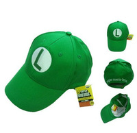 Free Shipping Mario Bros Marine Navy Hat Cosplay Baseball Cap Green luigi Cap