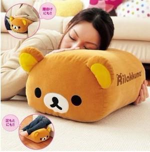 Free Shipping by EMS Wholesale Rilakkuma Bear Pillow,Plush Toy Cushion, 5Pcs/Lot , High Quality,Gift(China (Mainland))