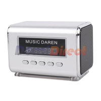Music Daren Mini Speaker Portable FM Speaker with External Battery Support mobile phone U-Disk SD/TF Card for PC,MP3,MP4