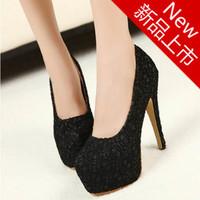 Female high-heeled single shoes sexy lace princess shoes single shoes platform thin heels women's shoes free shipping