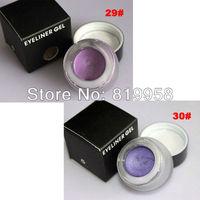 Free Shipping!! 2 Colors Purple Water Proof Eyeliner Gel 29# 30#