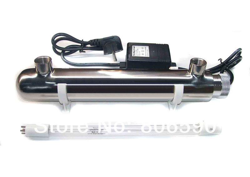 Aquarium UV Sterilizer, 254nm ultraviolet lamp water clarifier, free shipping(China (Mainland))