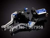 "Blue Universal 7/8"" Clutch Brake Master Cylinder Kit Reservoir Levers For Motorcycle All Brand"