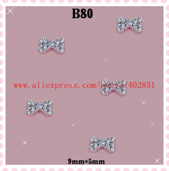100pcs/lot nice nail art chea price  bow design 3d nail art decoration  freeshipping