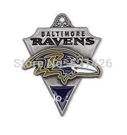 (Can be Mixed) sport enamel Baltimore Ravens football team logo charms 50 pcs a lot