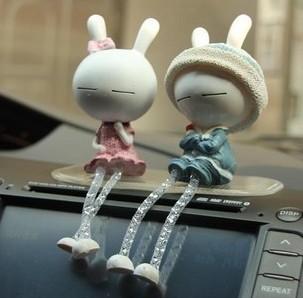 TUZKI lovers doll car decoration car toys decoration car accessories auto supplies