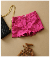 Exquisite embroidery shorts pants  fashion lady pant 100%COTTON pants