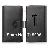 Free shipping Black Leather Wallet Flip Case Cover Card Slot Holder for Nokia Lumia 920
