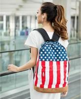 New America US Flag Unisex Backpack Punk Knapsack Fashion Shoulder Bag Campus Teenager Schoolbag Student Book Duffle School Bag