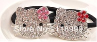 Cute Hello Kitty Crystal Hairbands For Girl Two Colors Wholesale Free Shipping