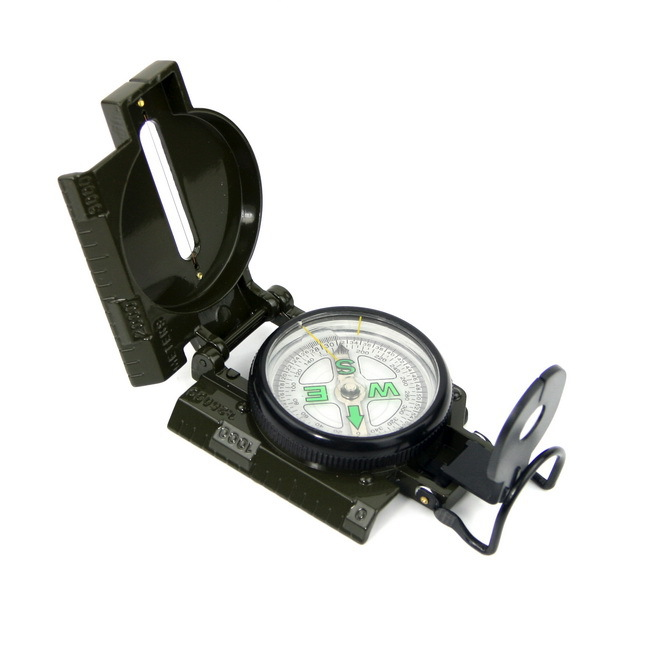 Cool Compass 3 in 1 Military Marching Lensatic Camping/ hiking Compass W/Guide Wire Free shipping(China (Mainland))