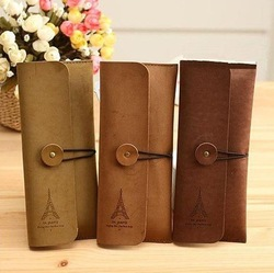 2013 New Fashion Eiffel pencil case 3colors Fashion Pen Bag 12pcs/lot Free shipping(China (Mainland))