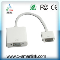 Brand New Dock Connector to VGA Adapter HDTV LCD Cable for Apple iPad 2 3 iPhone 4 4S iPod